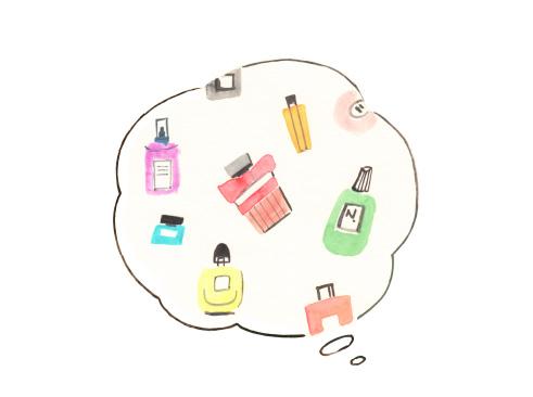 届いたアイテムを楽しみながら次にほしい香水を考える